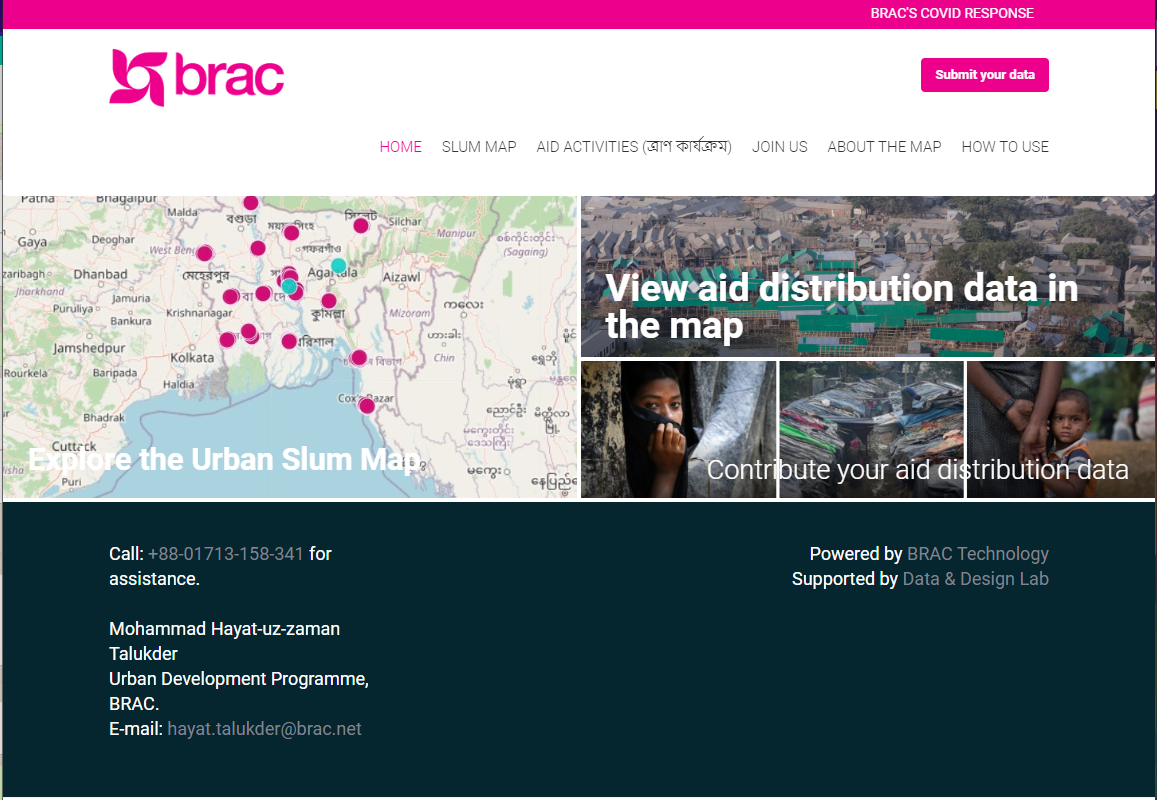 BRAC - Urban Slum Map